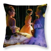 Ballerina Discussions Throw Pillow