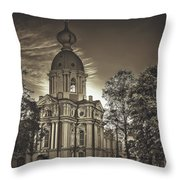 Beautiful Smolny Monastery Throw Pillow
