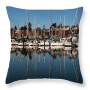 Bellingham Bay Marina  Throw Pillow