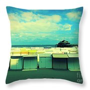 Blankenberge Beach Throw Pillow