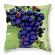 Blue Grape Bunches 6 Throw Pillow