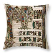 Book Of Lindisfarne Throw Pillow