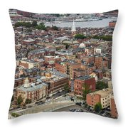Boston Government Center, North End And Harbor Throw Pillow