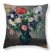 Bouquet Of Flowers, 1898 Throw Pillow