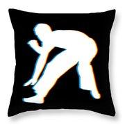 Brazilian Capoeira Gift Capoeirista Retro 3d Funky Effect Throw Pillow