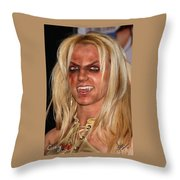Britney Spears Throw Pillow