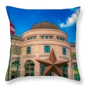 Bullock Texas State History Museum Throw Pillow