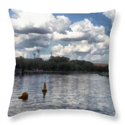Buoys In The River Throw Pillow