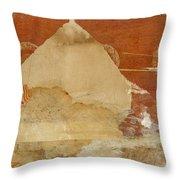 Burnt Orange Collage Throw Pillow