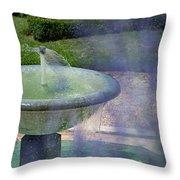 Castel Fountain Throw Pillow