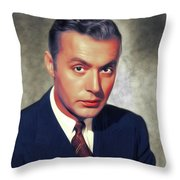 Charles Boyer, Vintage French Actor Throw Pillow
