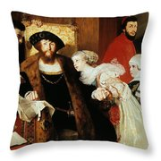 Christian II Signing The Death Warrant Of Torben Oxe  Throw Pillow