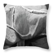 Close-up Of A Rose, Los Angeles County Throw Pillow