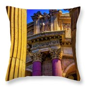 Columns Of The Palace Of Fine Arts Throw Pillow