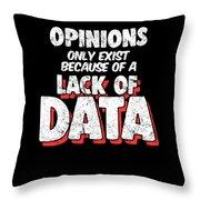 Computer Data Science Big Data Geek Pun Apparel Throw Pillow