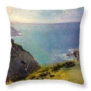 Cornish Headlands  Throw Pillow