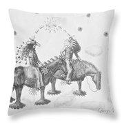 Cosmic Cowboys Throw Pillow