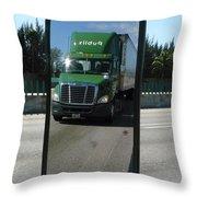 Green Freightliner Publix Throw Pillow