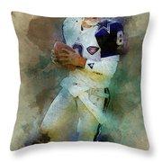 Dallas Cowboys.troy Kenneth Aikman Throw Pillow