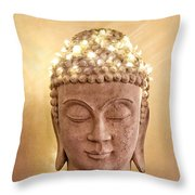 Dawn Buddha Throw Pillow by LeeAnn Kendall