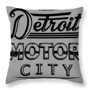 Detroit Motor City Throw Pillow