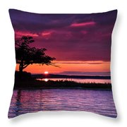 Detroit Point September Sunset Throw Pillow