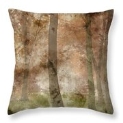 Digital Watercolor Painting Of Stunning Colorful Moody Vibrant A Throw Pillow