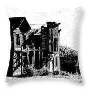 Elkhorn Ghost Town Montana Throw Pillow