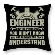 Engineer Problem Solver Engineering Career Throw Pillow