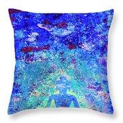 Enlightenment Blue Throw Pillow