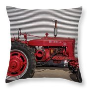 Farmall M And Steel Throw Pillow