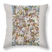 Floral Art Throw Pillow