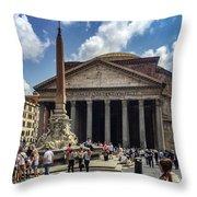 Fontana Del Pantheon Throw Pillow