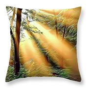 1 Forest Rays Throw Pillow
