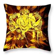 Ganesha4 Throw Pillow