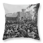 George Washington University Throw Pillow
