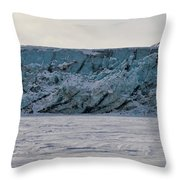 Glacier Front On Svalbard Throw Pillow