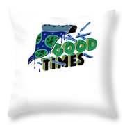 Good Old Times Pizza Fries Born In The 90s Husband Wife Throw Pillow