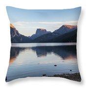 Green River Lake Throw Pillow by Michael Chatt