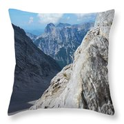 Grey Mountains Throw Pillow
