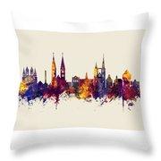 Halberstadt Germany Skyline Throw Pillow