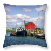 Hall's Harbour 01 Throw Pillow