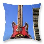 Hard Rock Cafe, Warsaw Throw Pillow