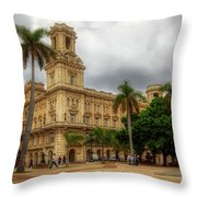Havana's Palacio Del Centro Asturiano Throw Pillow