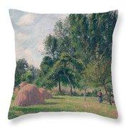 Haystacks, Morning, Eragny, 1899 Throw Pillow