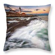 High Tide At Dusk Throw Pillow