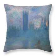 Houses Of Parliament, London Throw Pillow