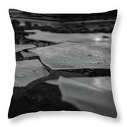 Ice Layer On The Seafloor Throw Pillow