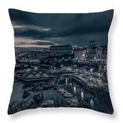 In The Silent Harbour Throw Pillow