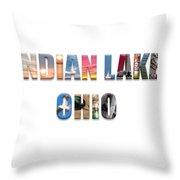 Indian Lake Ohio Throw Pillow